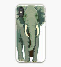 Elephant Full Illustration iPhone Case