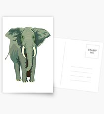 Elephant Full Illustration Postcards