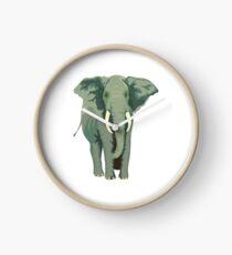 Elephant Full Illustration Clock