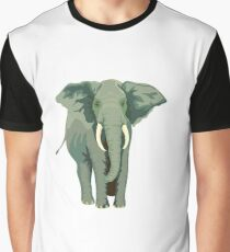 Elephant Full Illustration Graphic T-Shirt