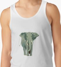 Elephant Full Illustration Men's Tank Top