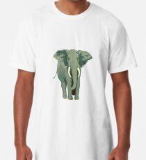 Elephant Full Illustration Long T-Shirt