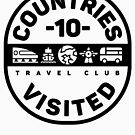 10 Countries Visited Travel - Black Version by designkitsch