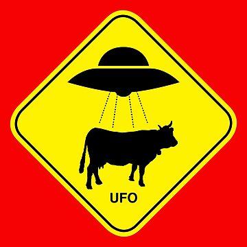 UFO traffic hazard sign von monsterplanet