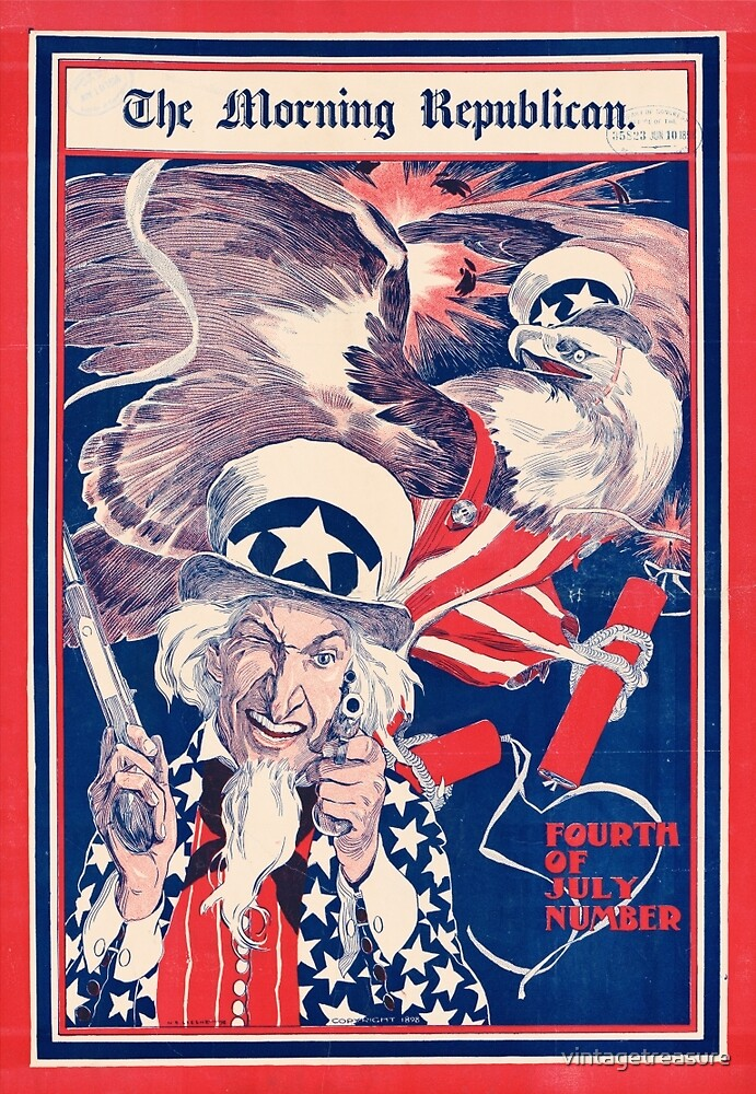 The morning Republican Uncle Sam Poster 1898 Restored by vintagetreasure