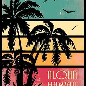 Aloha Hawaii Vintage Sonnenuntergang von Boy-With-Hat