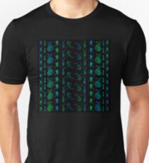 Neon Insect Stripes 1  Slim Fit T-Shirt