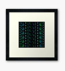 Neon Insect Stripes 1  Framed Print