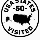All 50 USA States Visited - Black Version by designkitsch