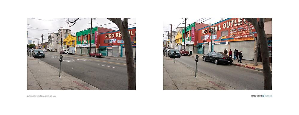 Pico Boulevard near Vermont Avenue, Byzantine Latino Quarter, Los Angeles, California, USA...narrowed. by David Yoon