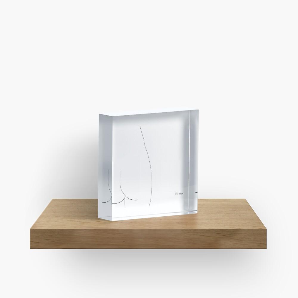 Picasso Line Art - Butt Acrylic Block