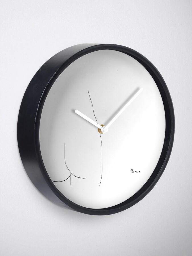 Alternate view of Picasso Line Art - Butt Clock