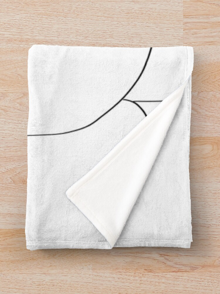 Alternate view of Picasso Line Art - Butt Throw Blanket