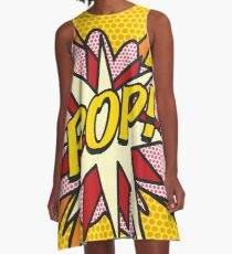 Comic Book Pop Art POP Superhero A-Line Dress