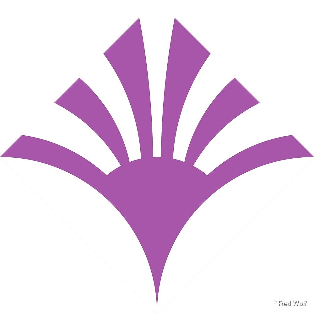 Geometric Pattern: Deco Sunset: Purple/White by * Red Wolf