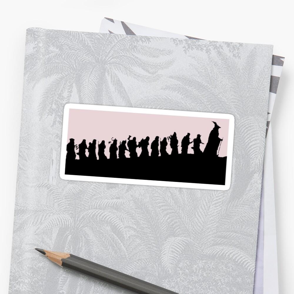 Die Zwerge und Gandalf Sticker