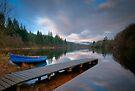 Blue dinghy, Loch Ard by David Mould