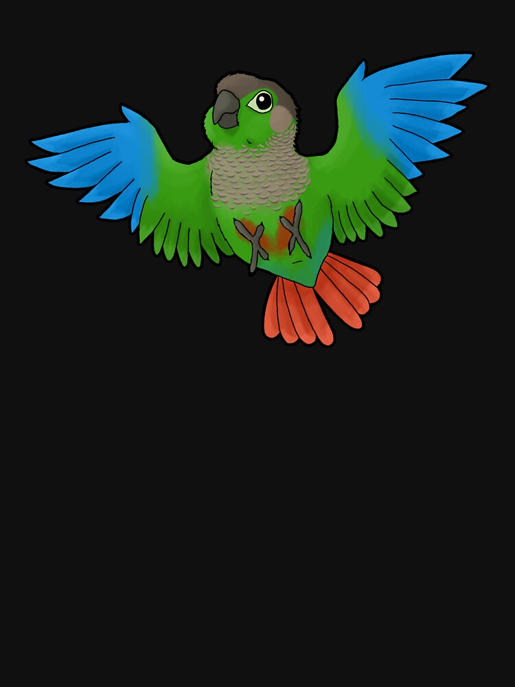 Green-cheeked Conure by Psitta