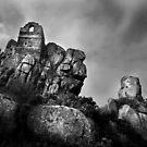 Ruinen der St.-Micheal-Kapelle - An Garrek, Cornwall von Samantha Higgs