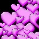 Pink Hearts black by mjvision Mia Niemi by mjvisiondesign