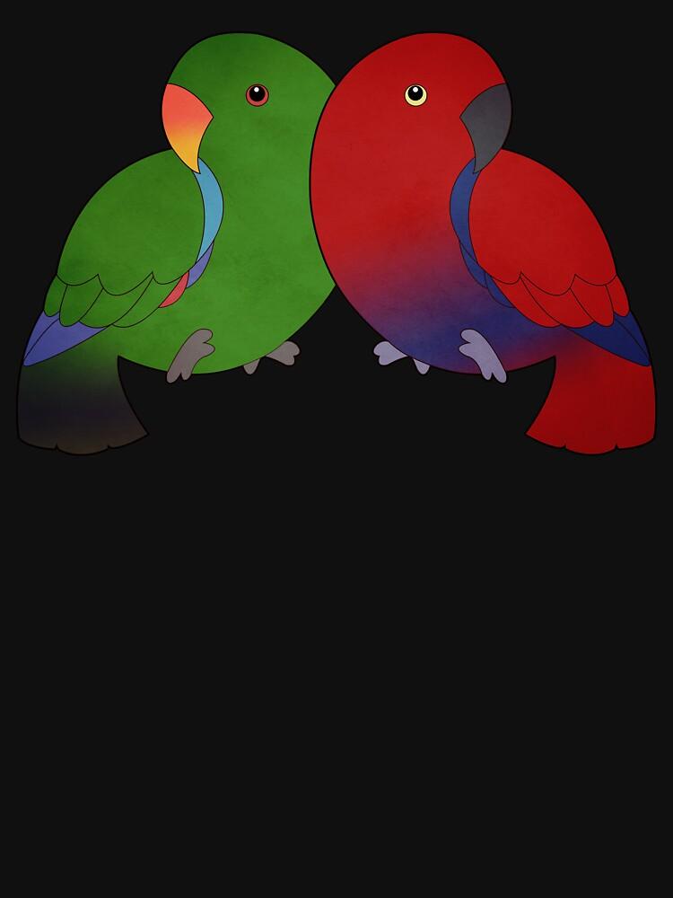 Eclectus Parrots by Psitta