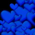 Blue Hearts black by mjvision Mia Niemi by mjvisiondesign