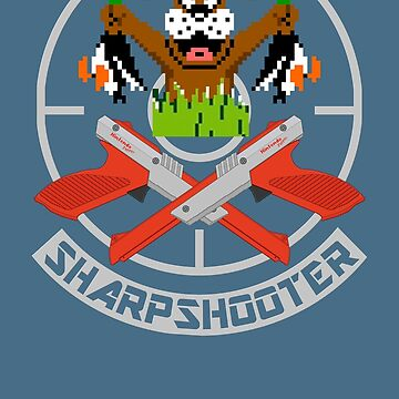 Old School Gamer Sharpshooter by GoMerchBubble