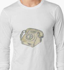 Telephone Vintage Etching Long Sleeve T-Shirt