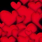 Red Hearts black by mjvision Mia Niemi by mjvisiondesign