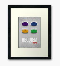 REQUIEM FOR A DREAM - MINIMAL  Framed Print