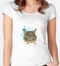 Purebred cat Women's Fitted Scoop T-Shirt
