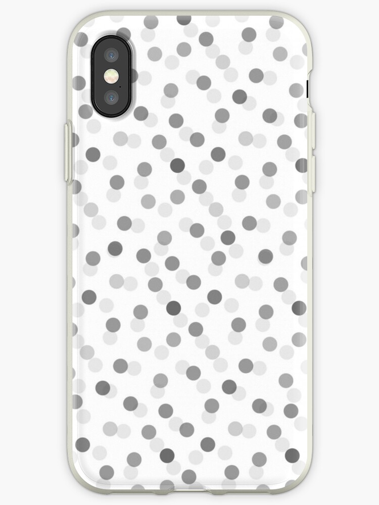 Vintage gray black trendy polka dots pattern by Maria Fernandes