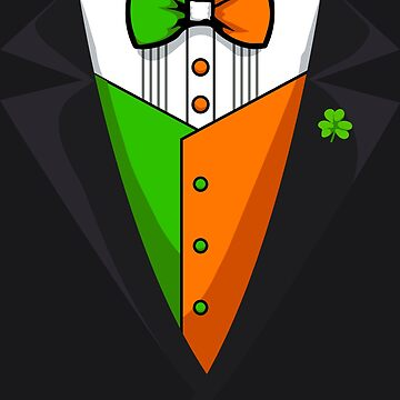 Irish Tuxedo Art | Funny St Patricks Day Men Boy Costume by melsens