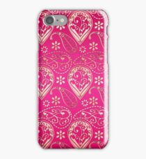 Chic girly pink gold floral paisley pattern iPhone Case/Skin