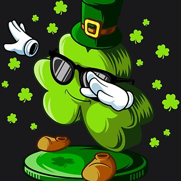 Funny Dabbing Shamrock St Patricks Day Boys Girls Dab Art by melsens