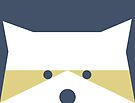 Peek-a-Boo Raccoon, Navy and Gold by Kendra Shedenhelm