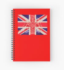 Union jack british flag Spiral Notebook
