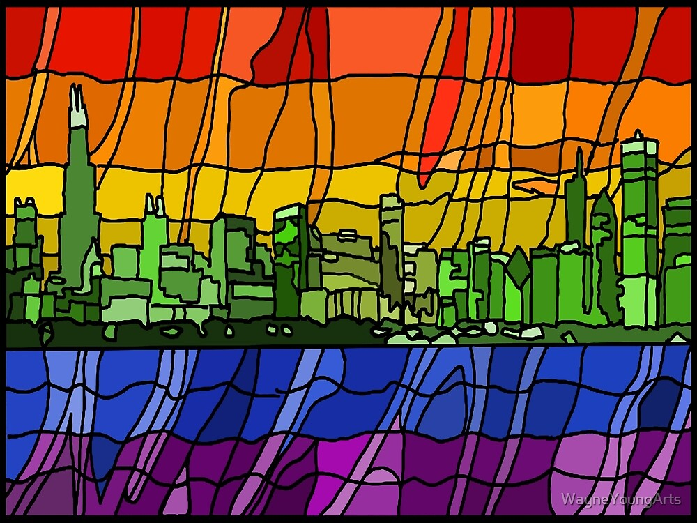 Chicago Pride Cityscape by WayneYoungArts