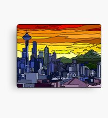 Seattle Pride Cityscape Canvas Print