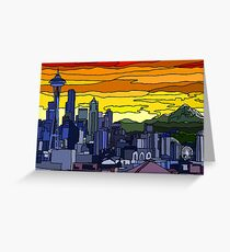 Seattle Pride Cityscape Greeting Card
