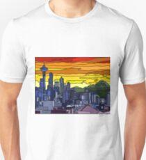Seattle Pride Cityscape Unisex T-Shirt