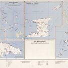 «Mapa vintage de las Antillas (1958)» de BravuraMedia