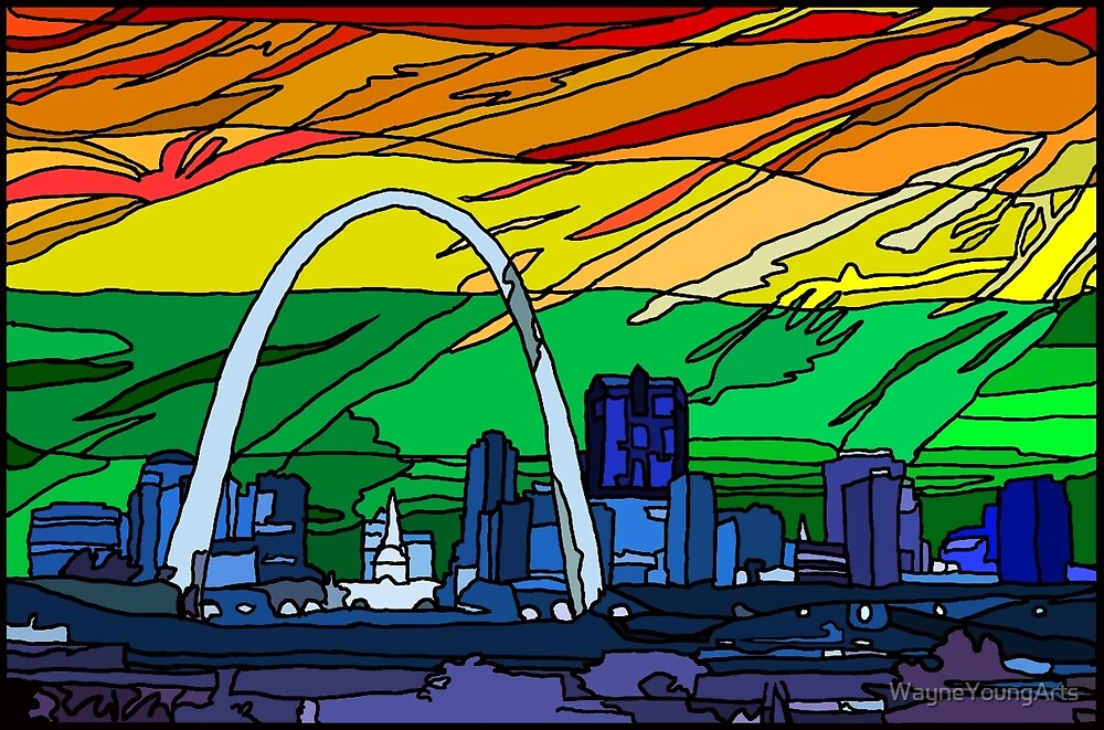 St. Louis Pride Cityscape by WayneYoungArts