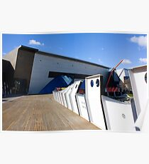 Boardwalks and blue skies Poster