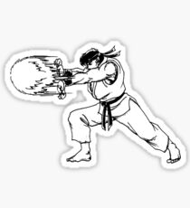 ryu hadouken Sticker