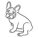 French BulldogLine Drawing by Adam Regester