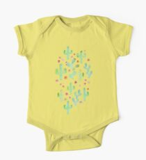 Watercolor Cacti One Piece - Short Sleeve