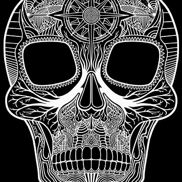 Inked Candy Skull - Journey - White by LOOSEstudio
