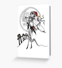 Jack Skellington & Zero Greeting Card