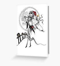 Jack Skellington & Zero Grußkarte